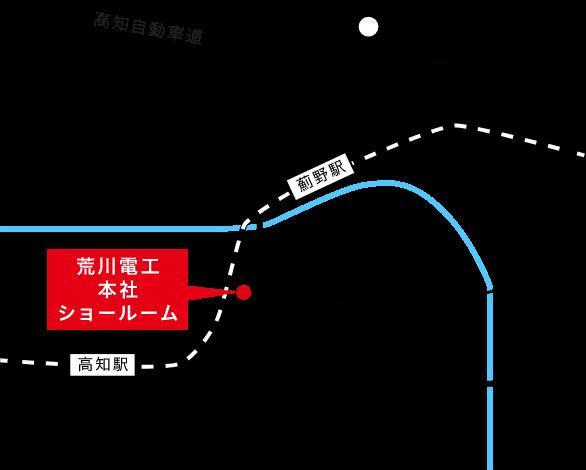 パネルDO本社ショールームの地図